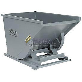 Wright 3399 1/3 Cu Yd Gray HD Self Dumping Forklift Hopper with Heavy Gauge Base