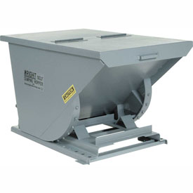 Wright 10099 1 Cu Yd Gray HD Self Dumping Forklift Hopper with Heavy Gauge Base