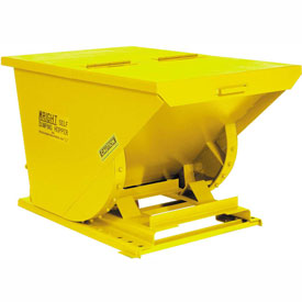 Wright 20099 2 Cu Yd Yellow HD Self Dumping Forklift Hopper with Heavy Gauge Base
