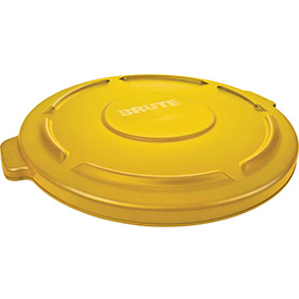 Flat Lid For 20 Gallon Round Trash Container - Yellow