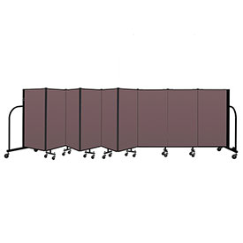"Screenflex Portable Room Divider 9 Panel, 4'H x 16'9""L, Fabric Color: Mauve"