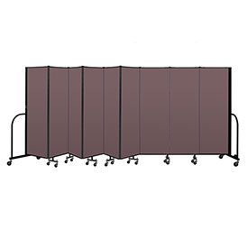 "Screenflex Portable Room Divider 9 Panel, 6'H x 16'9""L, Fabric Color: Mauve"