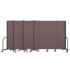 "Screenflex Portable Room Divider 9 Panel, 6'8""H x 16'9""L, Fabric Color: Mauve"