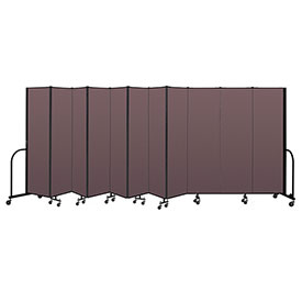 "Screenflex Portable Room Divider 11 Panel, 6'8""H x 20'5""L, Fabric Color: Mauve"