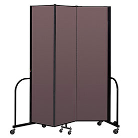 "Screenflex Portable Room Divider 3 Panel, 7'4""H x 5'9""L, Fabric Color: Mauve"