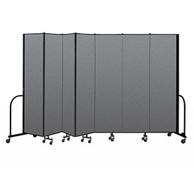 "Screenflex Portable Room Divider 7 Panel, 7'4""H x 13'1""L, Fabric Color: Gray"