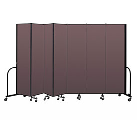 "Screenflex Portable Room Divider 7 Panel, 7'4""H x 13'1""L, Fabric Color: Mauve"