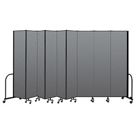 "Screenflex Portable Room Divider 9 Panel, 8'H x 16'9""L, Fabric Color: Gray"