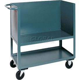 Jamco Elevated Deck Box Truck BC348 3 Enclosed Solid Steel Sides 48x30