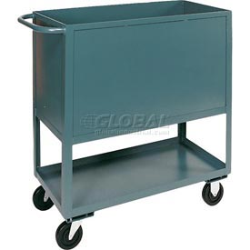 Jamco Elevated Deck Box Truck BD248 4 Enclosed Solid Steel Sides 48x24