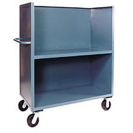 Jamco Package Truck FB360 3 Enclosed Sides & Middle Shelf 60x30 2400 Lb. Cap.