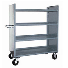 Jamco Package Truck DD248 with 4 Shelves 48 x 24 2400 Lb. Capacity