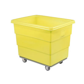 Dandux Yellow Plastic Box Truck 51116008Y-3S 8 Bushel Heavy Duty