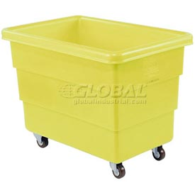Dandux Yellow Plastic Box Truck 51-116018Y-4S 18 Bushel Heavy Duty