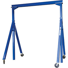 Vestil Steel Gantry Crane AHS-2-10-12 Adjustable Height 2000 Lb. Capacity