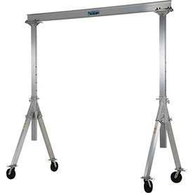 Vestil Aluminum Gantry Crane AHA-2-10-10 Adjustable Height 2,000 Lb. Capacity