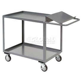 Jamco 2 Shelf Order Picking Cart SO136 36x18 Tray Top Shelf