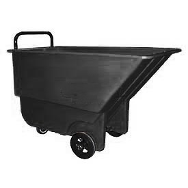 Bayhead Products Black Light Duty 1/3 Cubic Yard Tilt Truck 275 Lb. Capacity