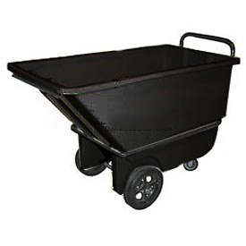 Bayhead Products Black Heavy Duty 1/3 Cubic Yard Tilt Truck 1200 Lb. Capacity