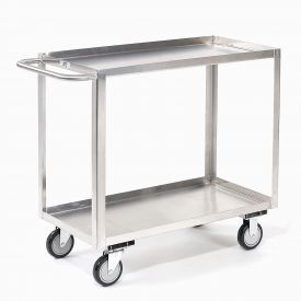 Jamco Stainless Steel Stock Cart XB236 2 Shelves Tray Top Shelf 36x24