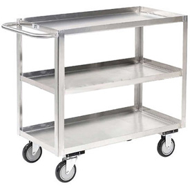 Jamco Stainless Steel Stock Cart XA136 3 Shelves Flush Top Shelf 36x18