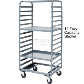 Jamco Steel Tray Truck TT433 36 x 33 x 69 with 28 Tray Capacity