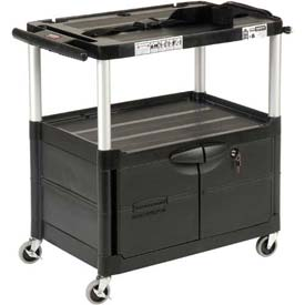 Rubbermaid Audio Visual Cart 33 x 19 x 33 With Locking Cabinet
