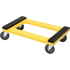 "Plastic Dolly with Rubber Padded Deck 5"" Casters 1200 Lb. Capacity"