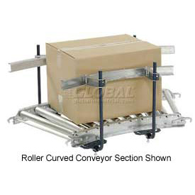 Steel Guard Rail Kit (Pair) GCBS-10-1.6-A for Omni Metalcraft 10' Straight Roller Conveyor