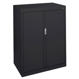 Sandusky System Series Counter Height Storage Cabinet HF2F301842 - 30x18x42, Black