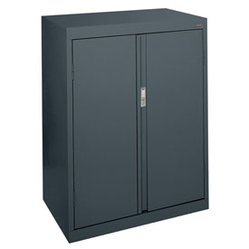 Sandusky System Series Counter Height Storage Cabinet HF2F301842 - 30x18x42, Charcoal
