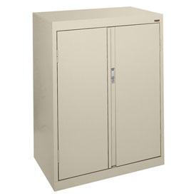 Sandusky System Series Counter Height Storage Cabinet HF2F301842 - 30x18x42, Putty