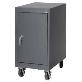 Sandusky Mobile Work Height Storage Cabinet TA11182430 Single Door - 18x24x36, Charcoal