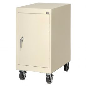 Sandusky Mobile Work Height Storage Cabinet TA11182430 Single Door - 18x24x36, Putty