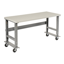 "60""W x 30""D Mobile Workbench - ESD Safety Edge - Gray"