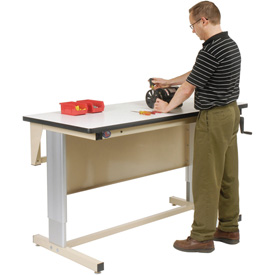 60 X 30 Plastic Top Ergo-Line Workbench- Beige