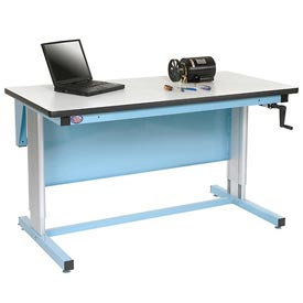 60 X 30 Plastic Top Ergo-Line Workbench- Blue