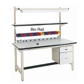 "60""L Bin Rail for Workstation - Beige"