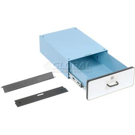 "6""H Lockable Stacking Drawer- Blue"