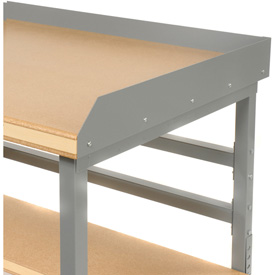 "60""W X 30""D Back & End Stops - Gray"