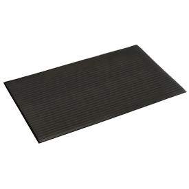 Ribbed Surface Mat 3 Foot Wide 3/8 Thick Black