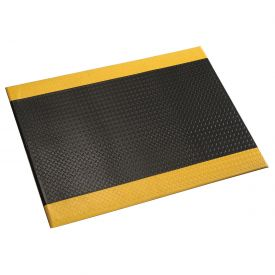 Diamond Plate 1/2 Inch Thick Mat 36 Wide Black/Yellow Border