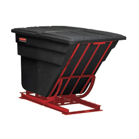 Rubbermaid® 1054 1/2 Cu. Yd. Self-Dumping Hopper with Forklift Base