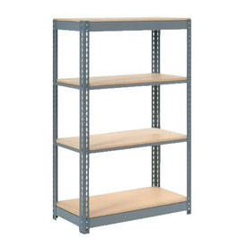 "Heavy Duty Shelving 48""W x 24""D x 60""H With 4 Shelves, Wood Deck"