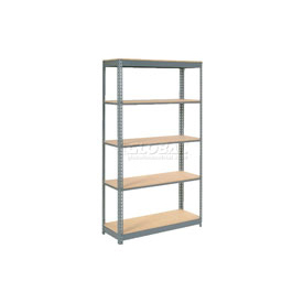 "Heavy Duty Shelving 48""W x 12""D x 96""H With 5 Shelves, Wood Deck"