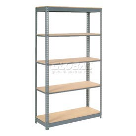 "Heavy Duty Shelving 48""W x 18""D x 96""H With 5 Shelves, Wood Deck"