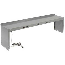 "Workbench Power Riser 96""W x 15""D x 18""D, Gray"