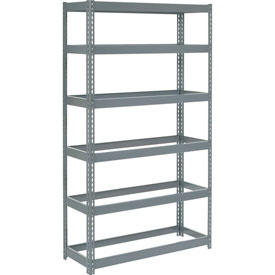 "Extra Heavy Duty Shelving 48""W x 24""D x 60""H With 6 Shelves, No Deck"
