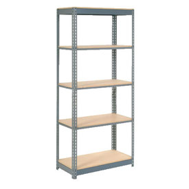 "Heavy Duty Shelving 36""W x 24""D x 60""H With 5 Shelves, Wood Deck"