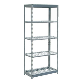 "Heavy Duty Shelving 36""W x 12""D x 60""H With 5 Shelves, Wire Deck"